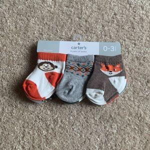 NWT Carter's 6 Pairs of Socks